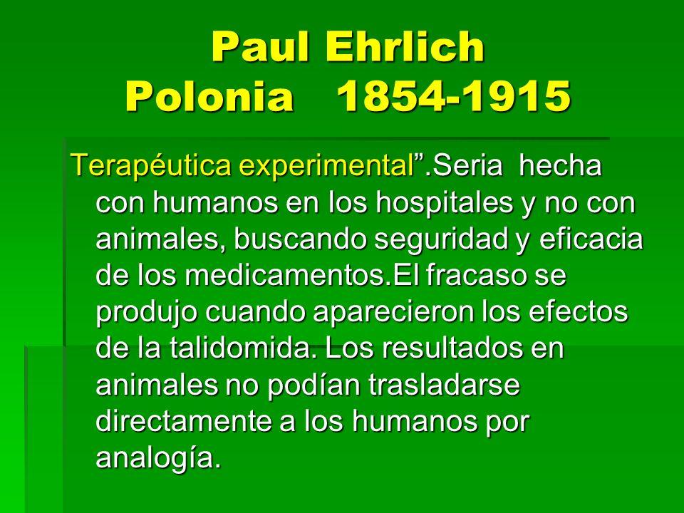 Paul Ehrlich Polonia 1854-1915