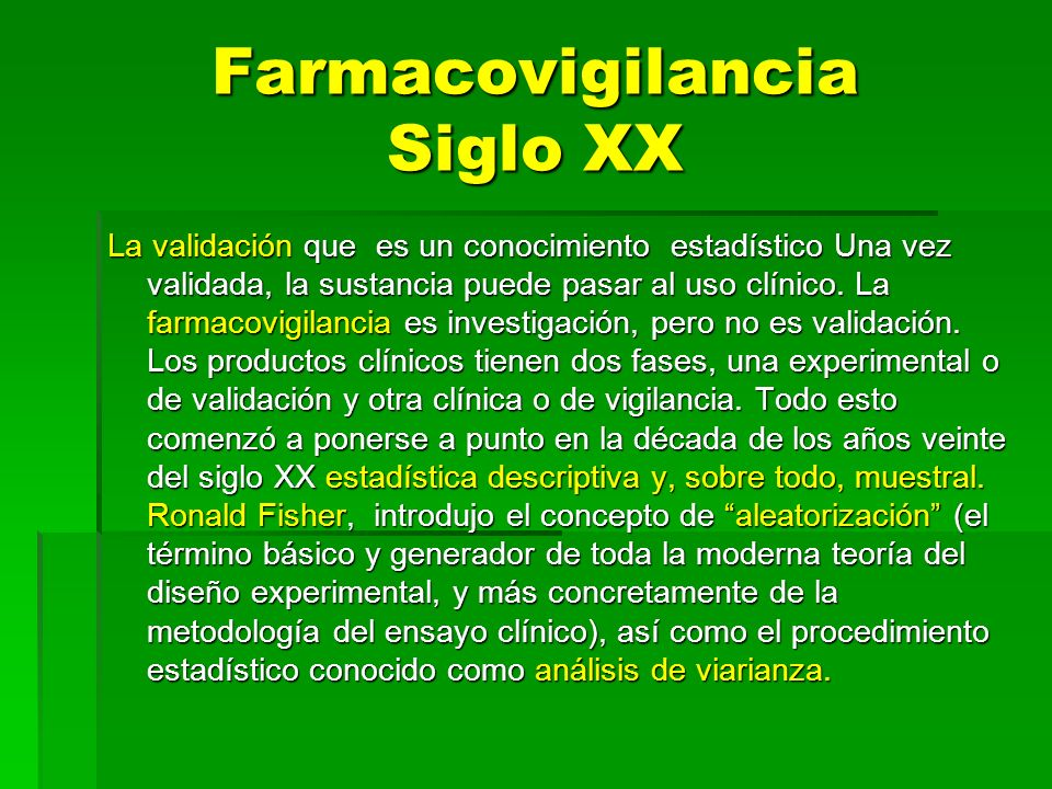 Farmacovigilancia Siglo XX