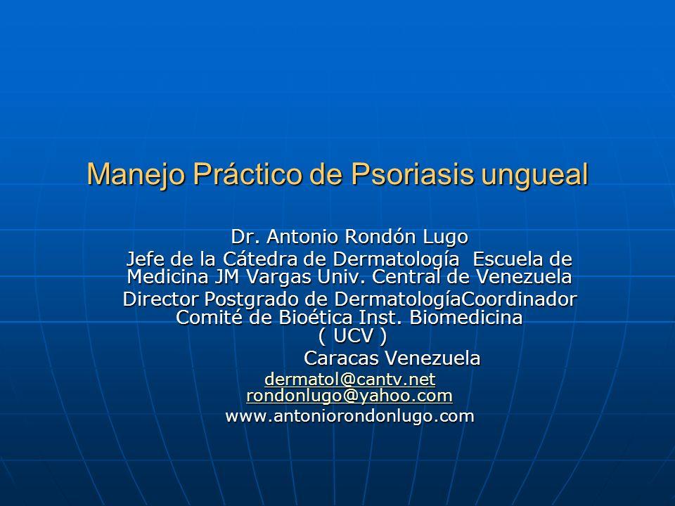 Manejo Práctico de Psoriasis ungueal