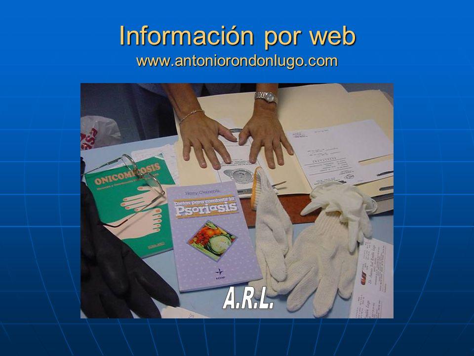 Información por web www.antoniorondonlugo.com A.R.L.