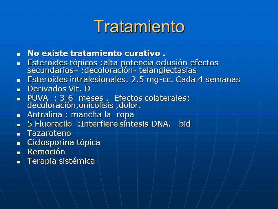 Tratamiento No existe tratamiento curativo .