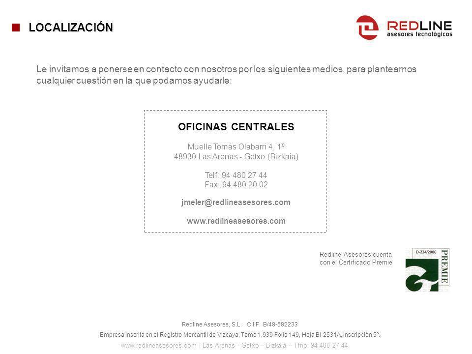 LOCALIZACIÓN OFICINAS CENTRALES