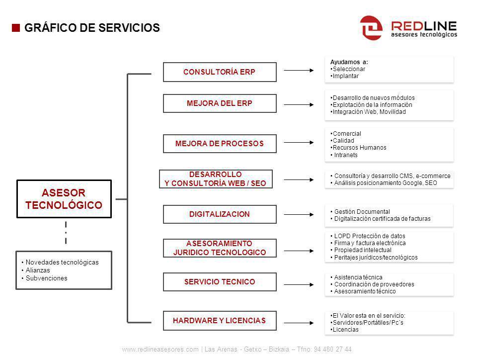 GRÁFICO DE SERVICIOS ASESOR TECNOLÓGICO CONSULTORÍA ERP MEJORA DEL ERP