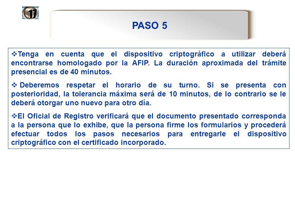 17 PASO 5.