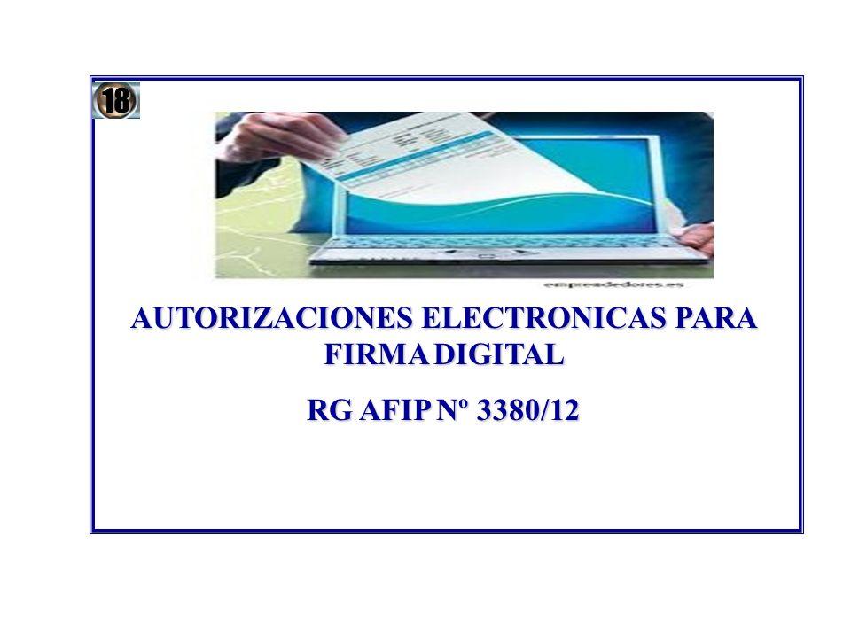 AUTORIZACIONES ELECTRONICAS PARA FIRMA DIGITAL