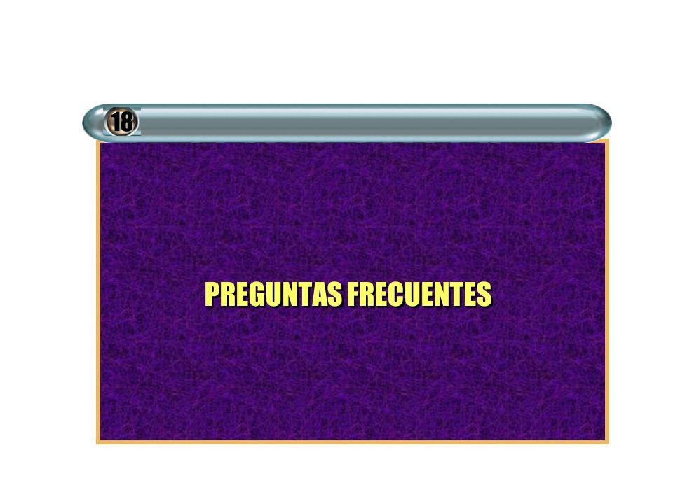 18 PREGUNTAS FRECUENTES