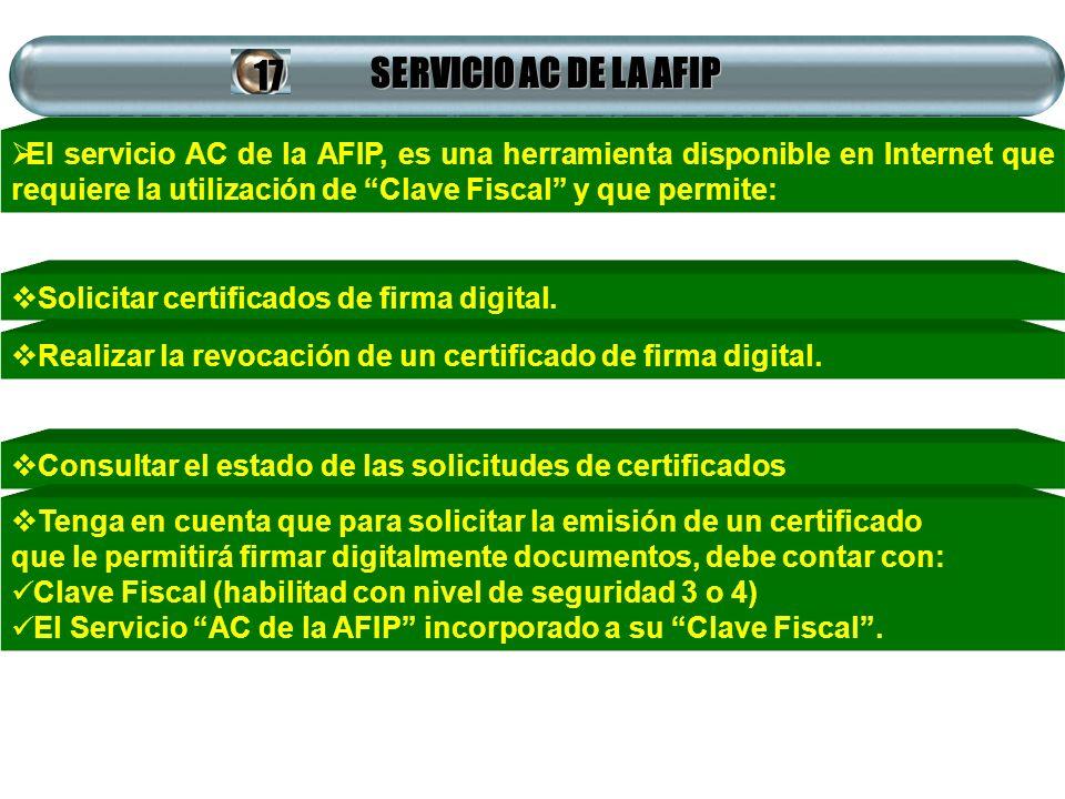SERVICIO AC DE LA AFIP 17.