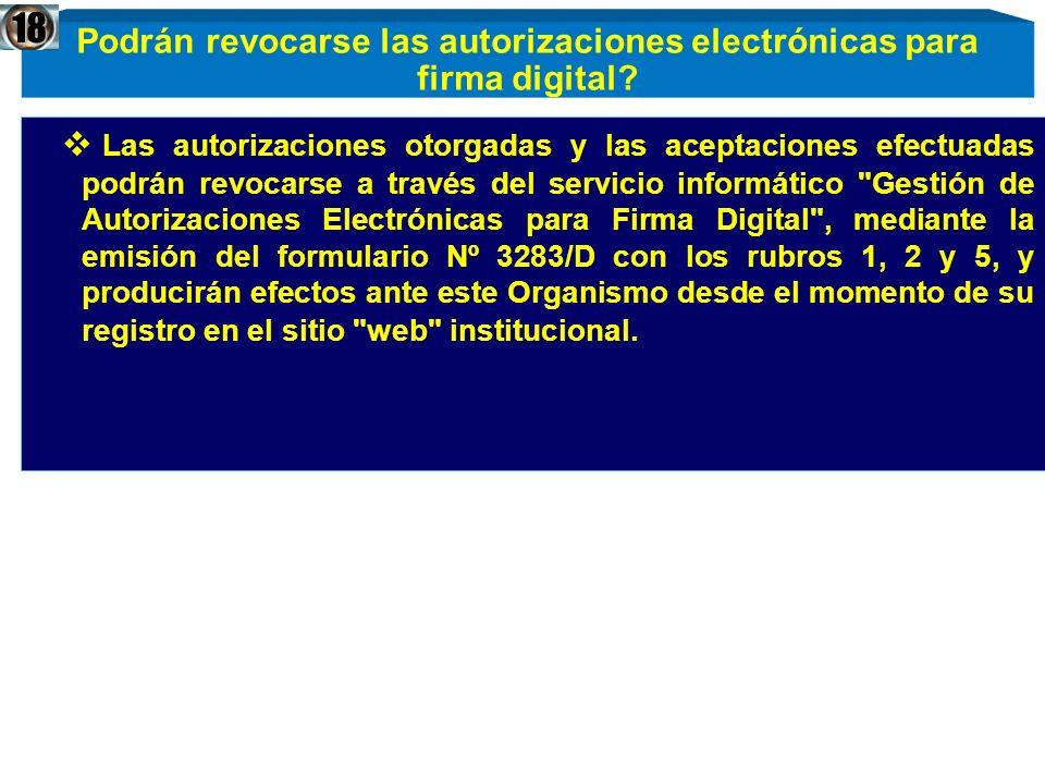 Podrán revocarse las autorizaciones electrónicas para