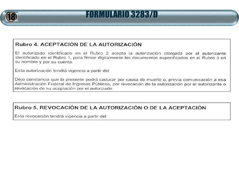 FORMULARIO 3283/D 18