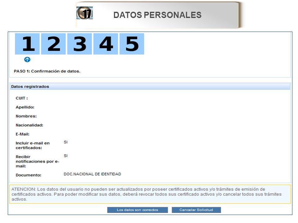 DATOS PERSONALES 17 9