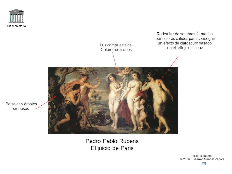 Pedro Pablo Rubens El juicio de Paris Rodea luz de sombras formadas