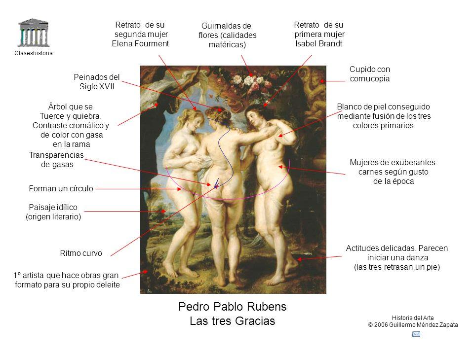 Pedro Pablo Rubens Las tres Gracias Retrato de su segunda mujer