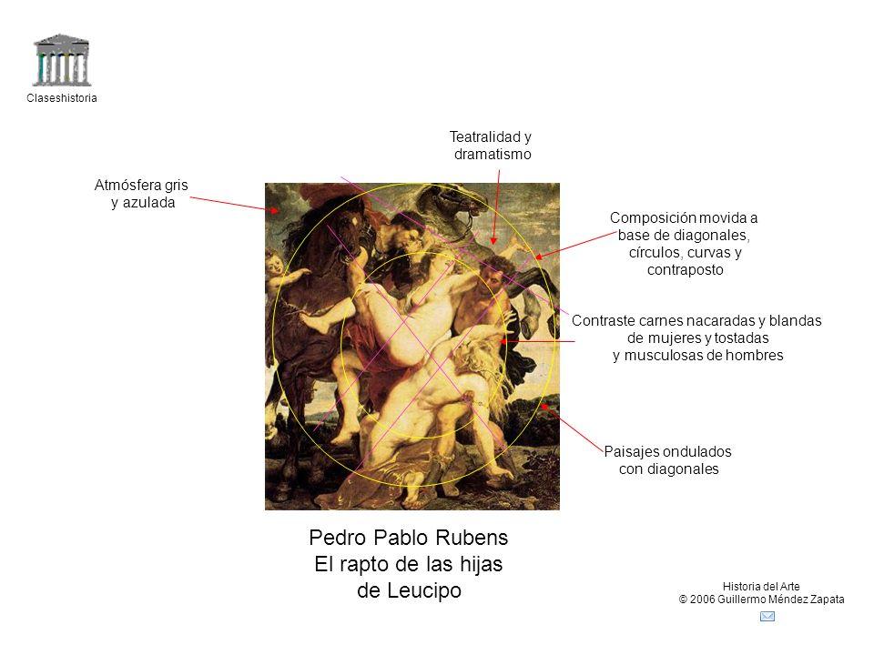 Pedro Pablo Rubens El rapto de las hijas de Leucipo Teatralidad y