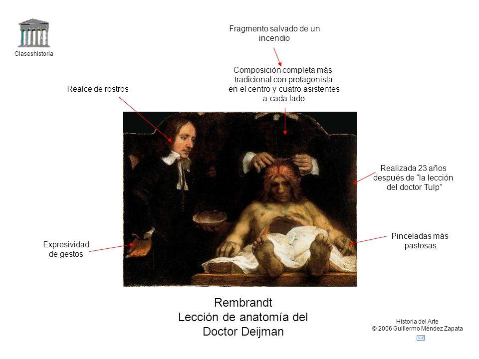 Lección de anatomía del Doctor Deijman
