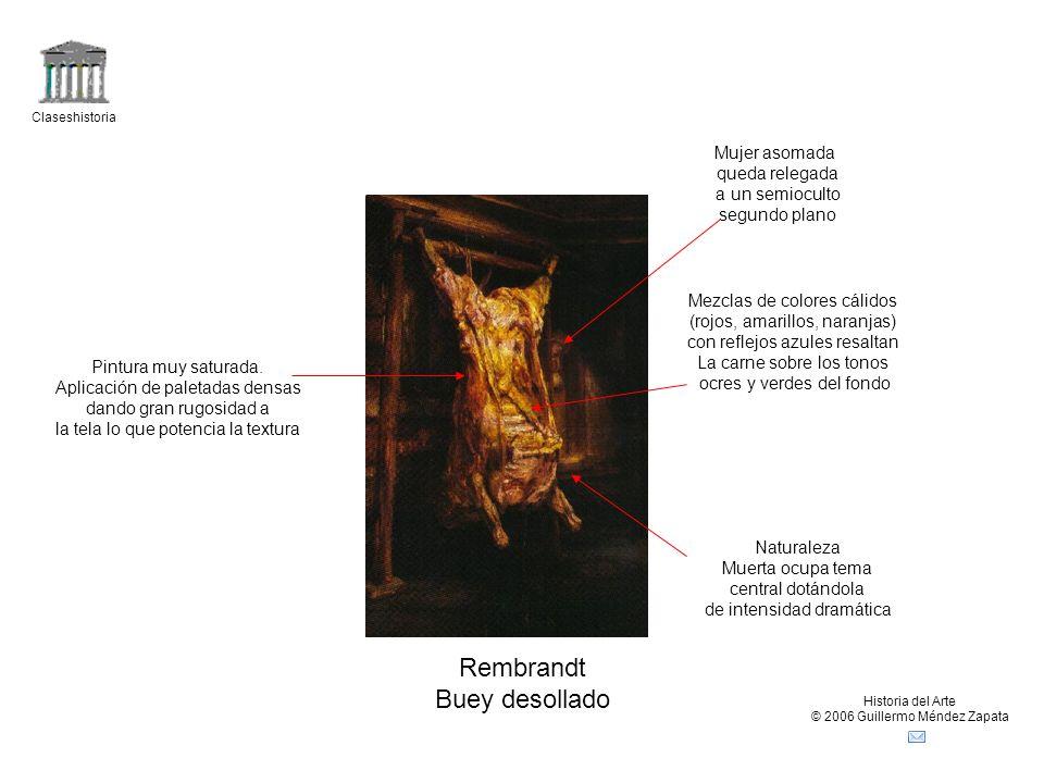 Rembrandt Buey desollado Mujer asomada queda relegada a un semioculto
