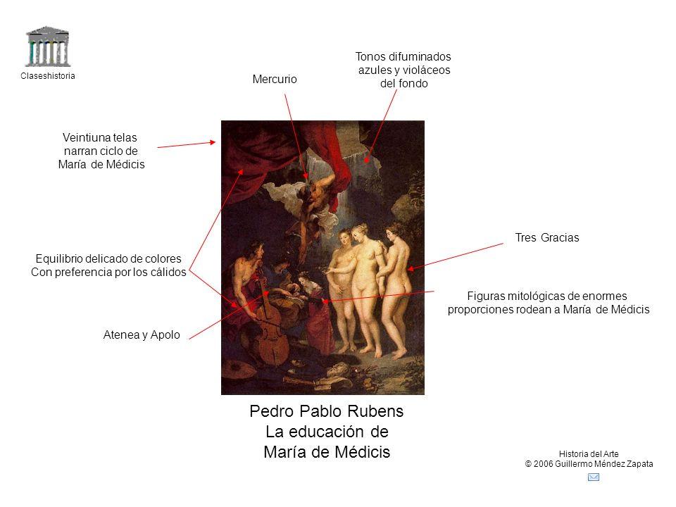 Pedro Pablo Rubens La educación de María de Médicis Tonos difuminados