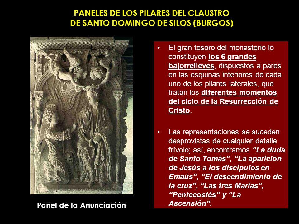 PANELES DE LOS PILARES DEL CLAUSTRO DE SANTO DOMINGO DE SILOS (BURGOS)