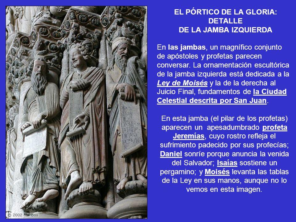 EL PÓRTICO DE LA GLORIA: DETALLE DE LA JAMBA IZQUIERDA