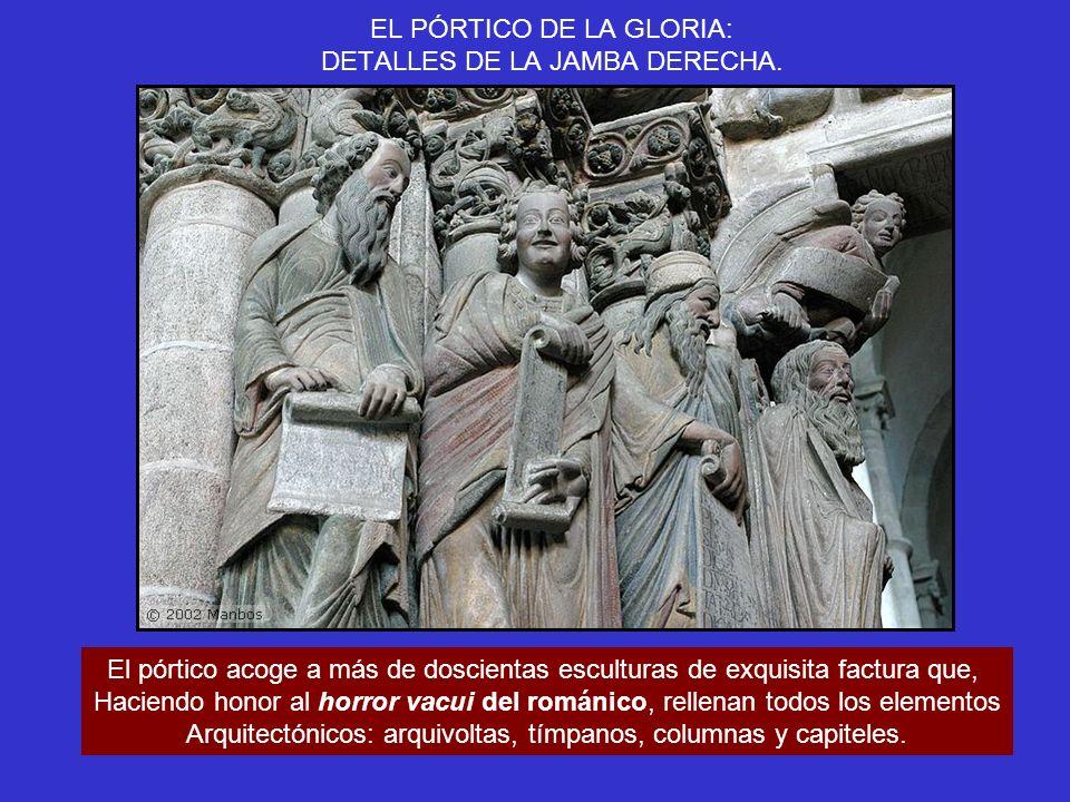 EL PÓRTICO DE LA GLORIA: DETALLES DE LA JAMBA DERECHA.