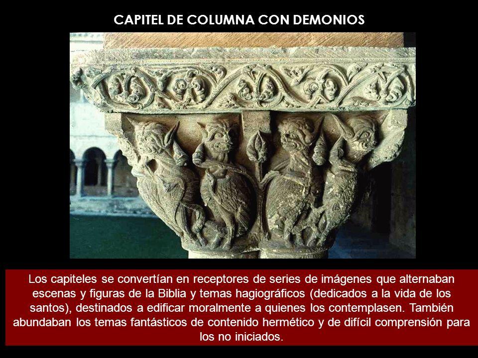CAPITEL DE COLUMNA CON DEMONIOS