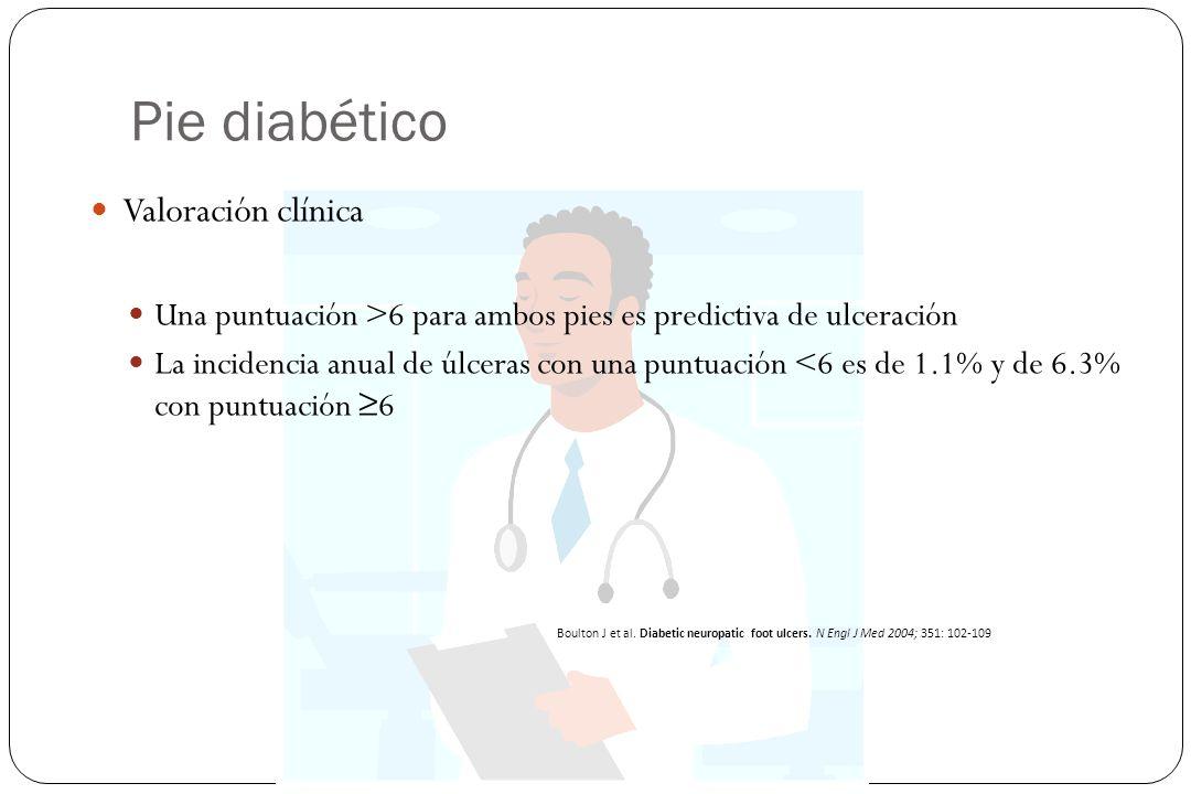 Pie diabético Valoración clínica