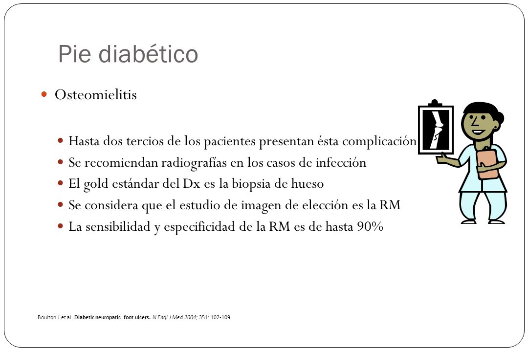Pie diabético Osteomielitis