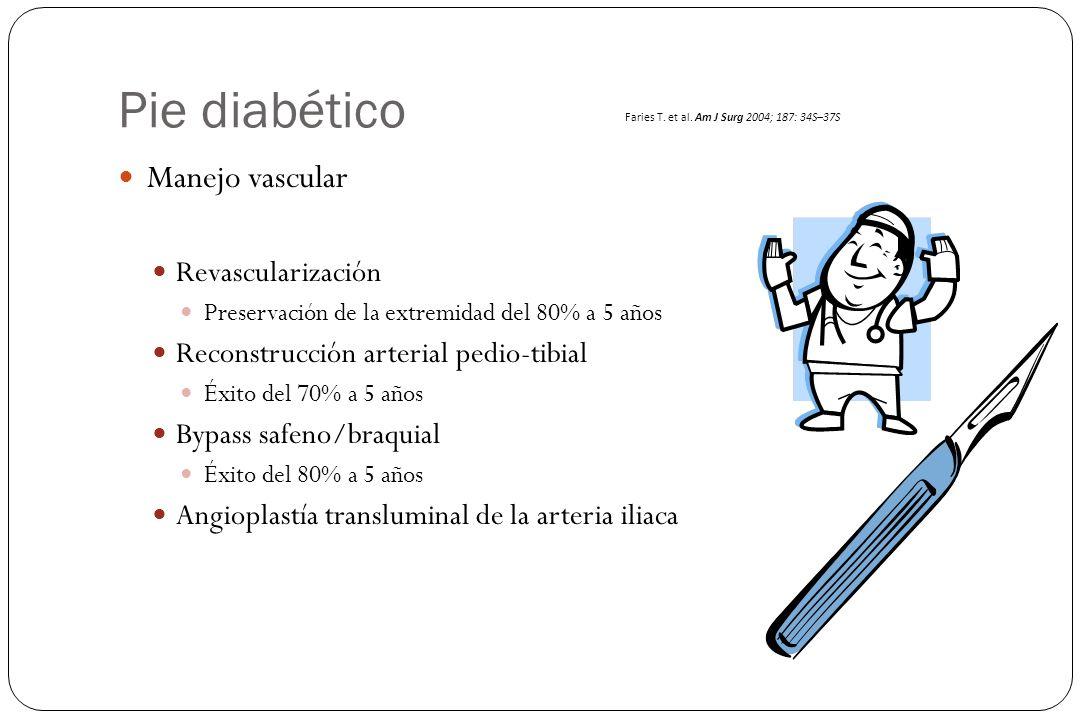 Pie diabético Manejo vascular Revascularización