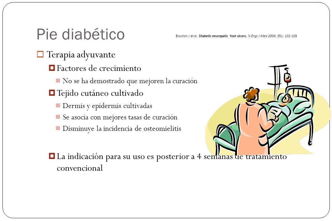 Pie diabético Terapia adyuvante Factores de crecimiento