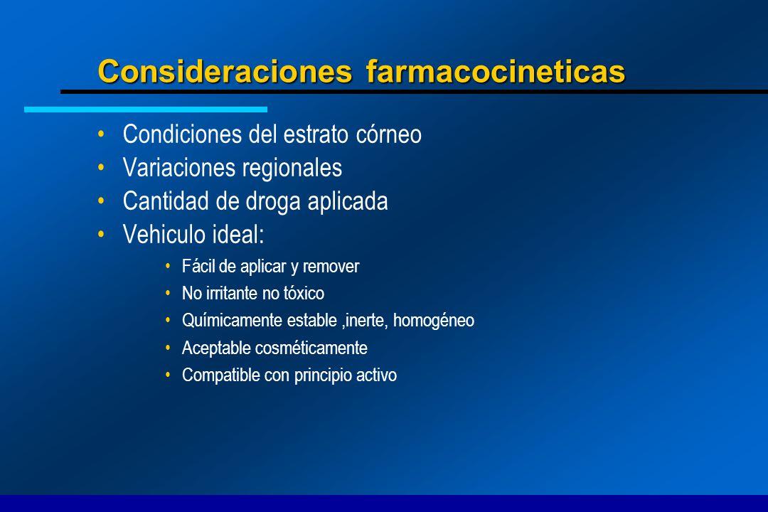 Consideraciones farmacocineticas