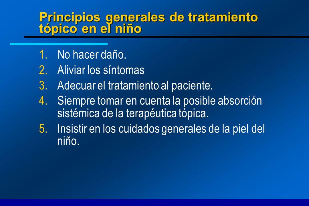 Principios generales de tratamiento tópico en el niño