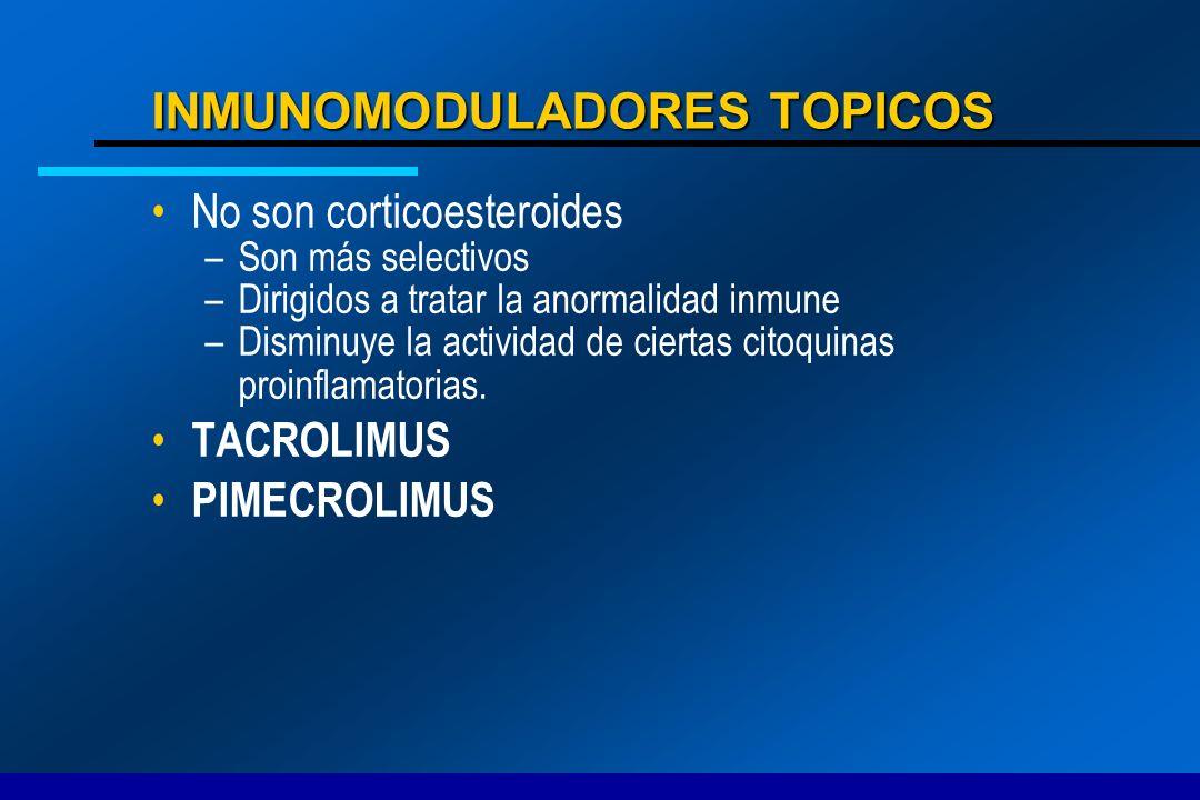 INMUNOMODULADORES TOPICOS