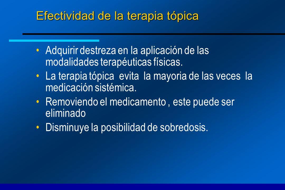 Efectividad de la terapia tópica
