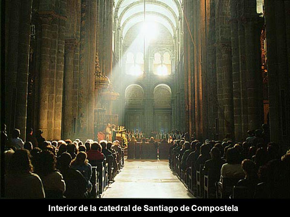Interior de la catedral de Santiago de Compostela