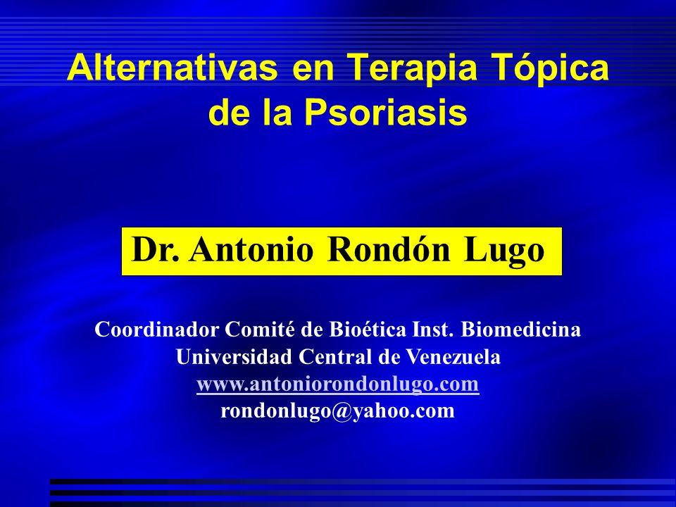 Alternativas en Terapia Tópica de la Psoriasis