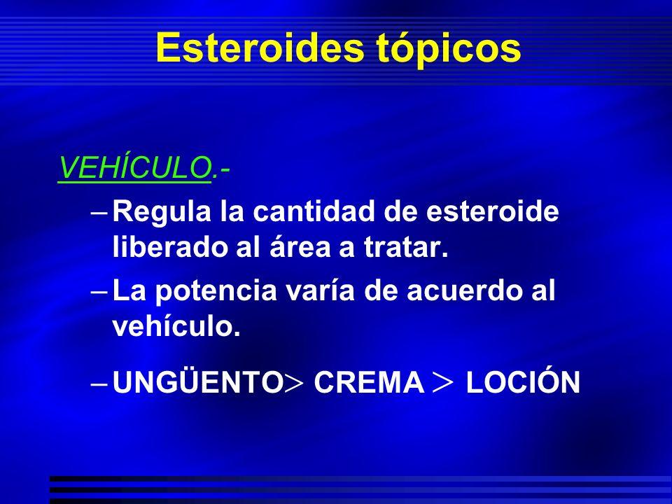 Esteroides tópicos VEHÍCULO.-