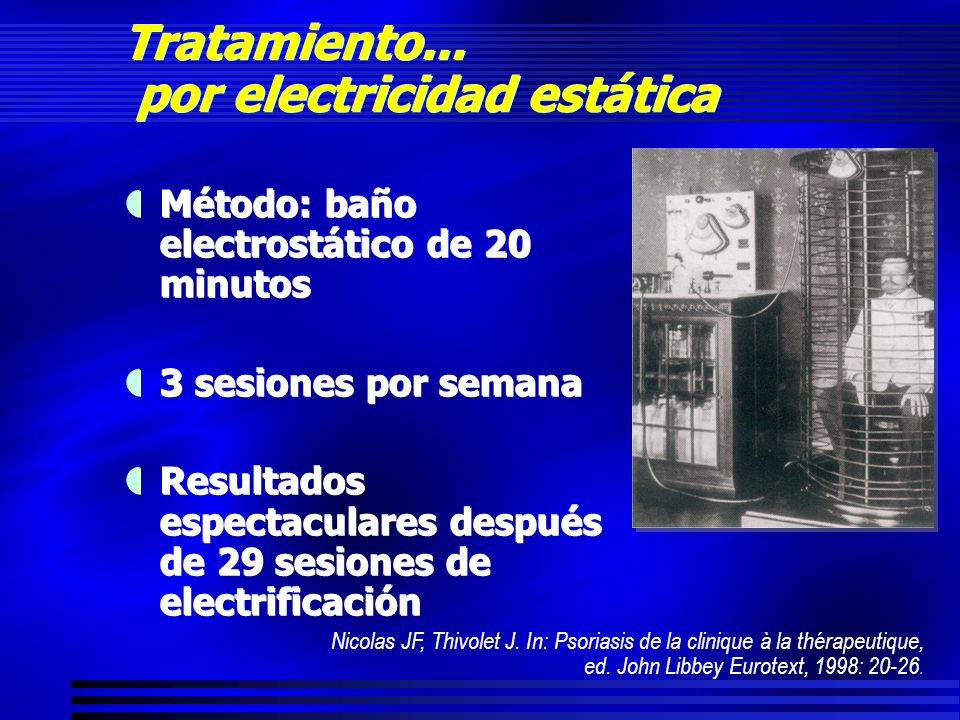 Tratamiento... por electricidad estática