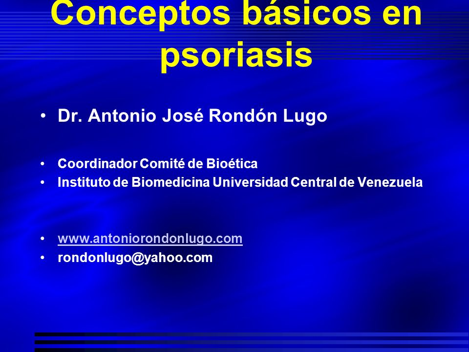 Conceptos básicos en psoriasis