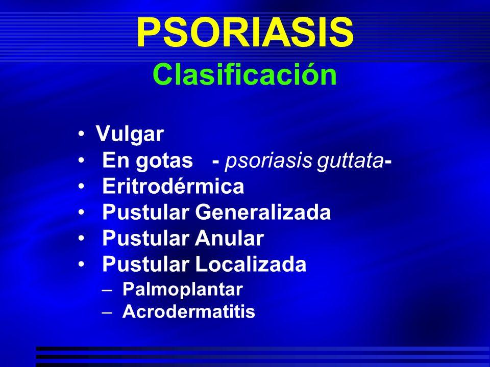 PSORIASIS Clasificación
