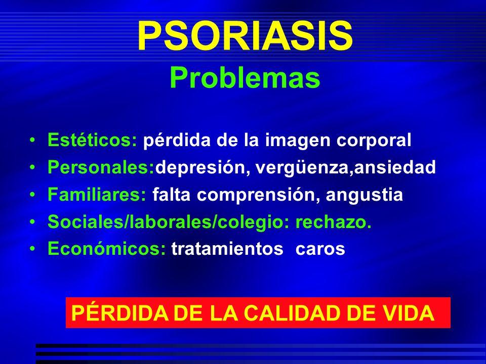 PSORIASIS Problemas PÉRDIDA DE LA CALIDAD DE VIDA