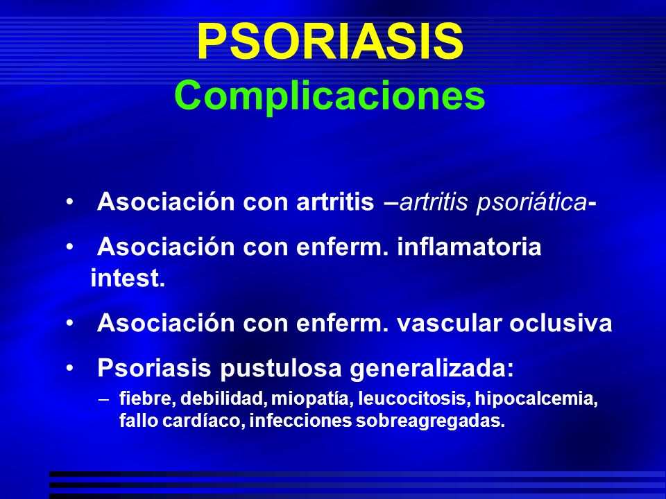 PSORIASIS Complicaciones