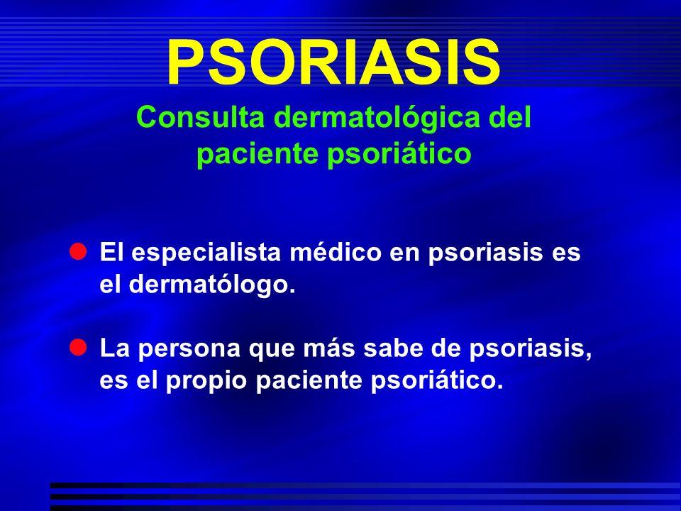 Consulta dermatológica del paciente psoriático