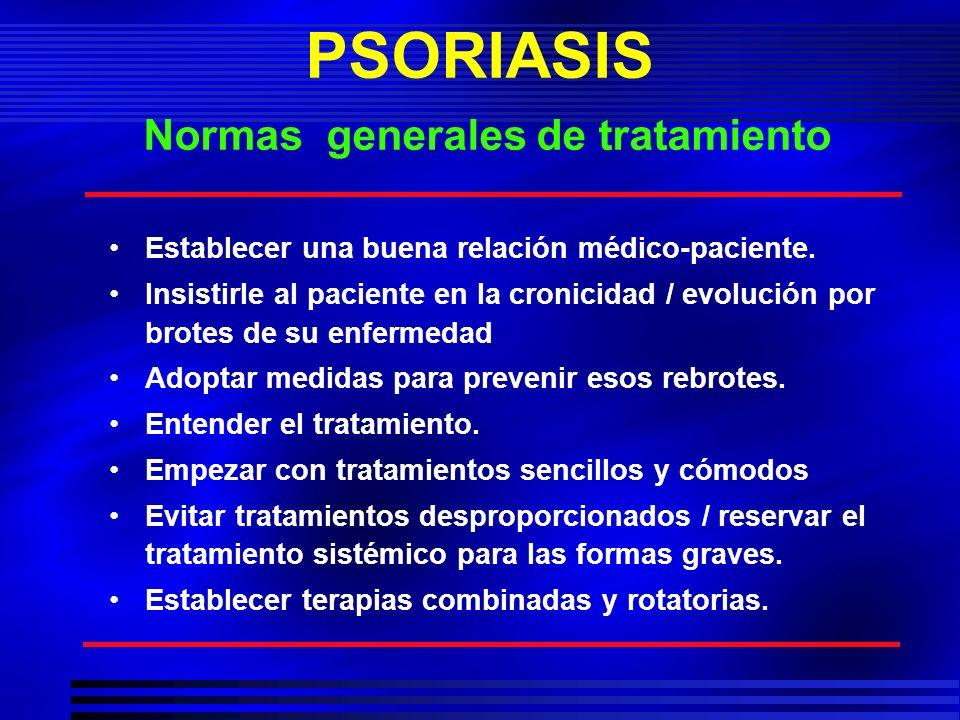 PSORIASIS Normas generales de tratamiento