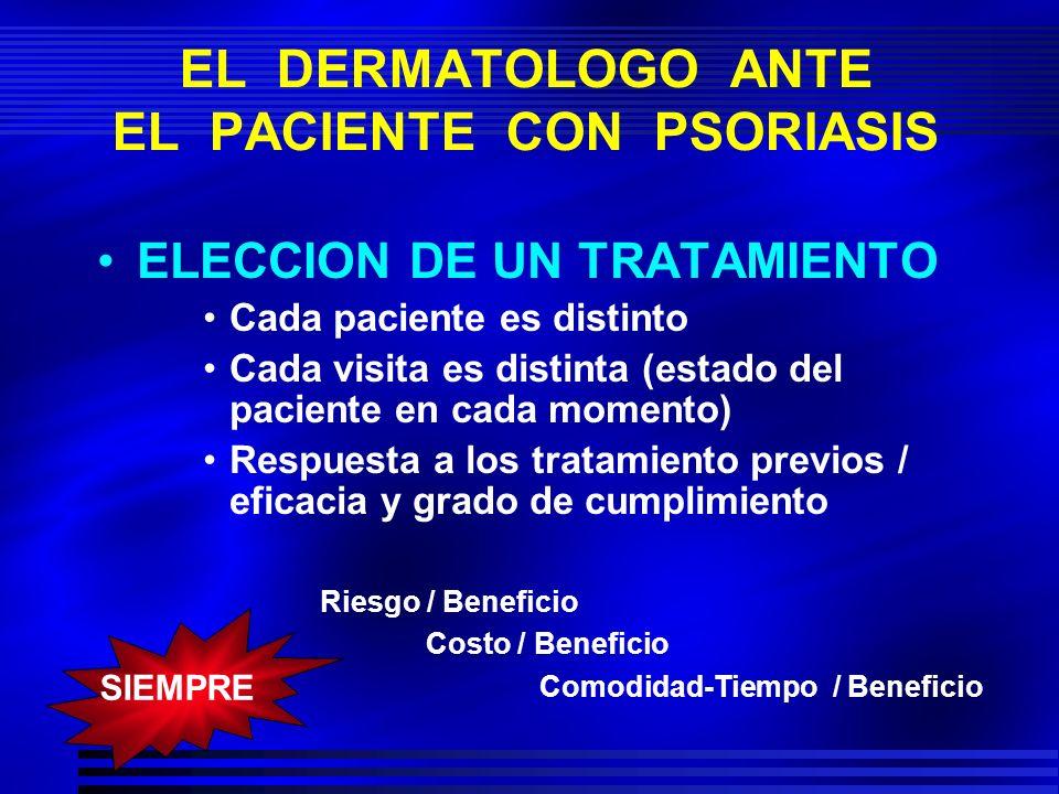 EL DERMATOLOGO ANTE EL PACIENTE CON PSORIASIS