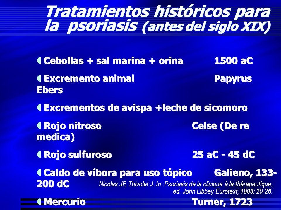 Tratamientos históricos para la psoriasis (antes del siglo XIX)