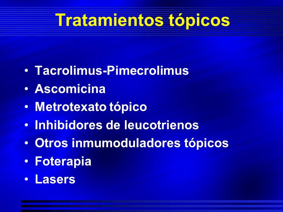 Tratamientos tópicos Tacrolimus-Pimecrolimus Ascomicina