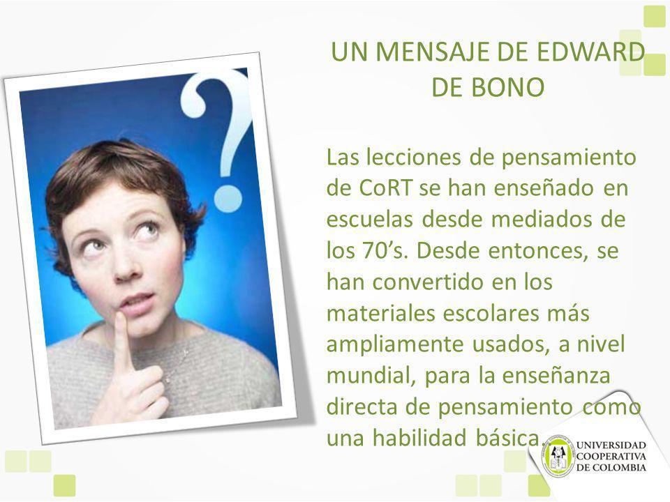 UN MENSAJE DE EDWARD DE BONO