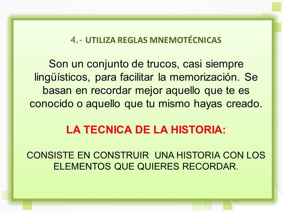 LA TECNICA DE LA HISTORIA:
