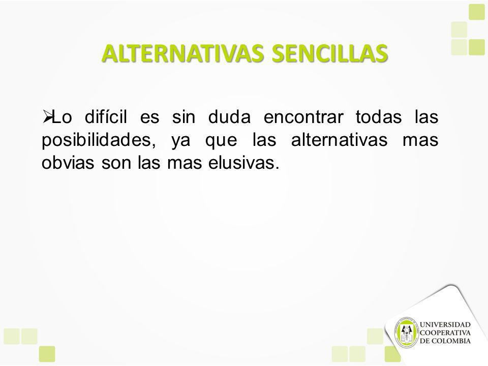 ALTERNATIVAS SENCILLAS