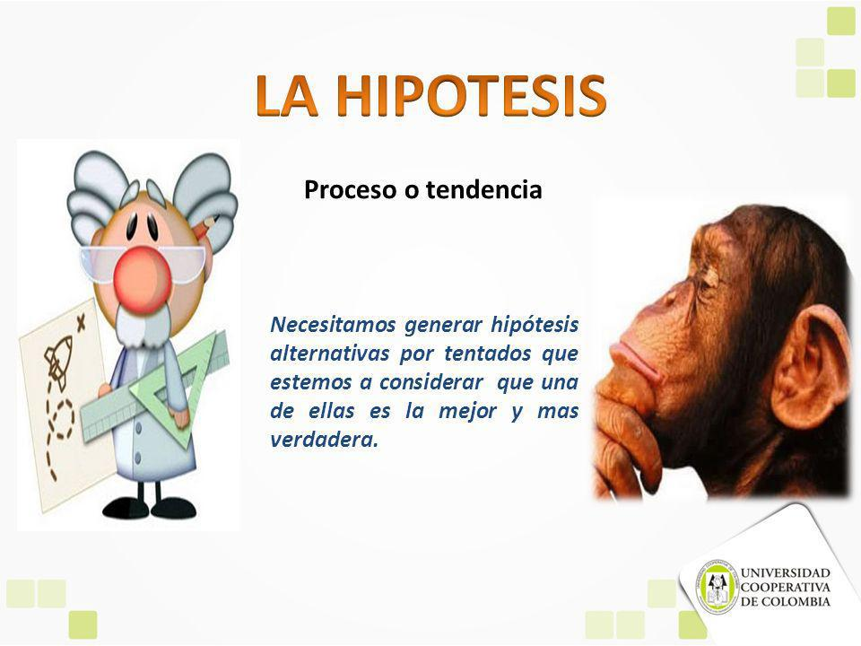 LA HIPOTESIS Proceso o tendencia