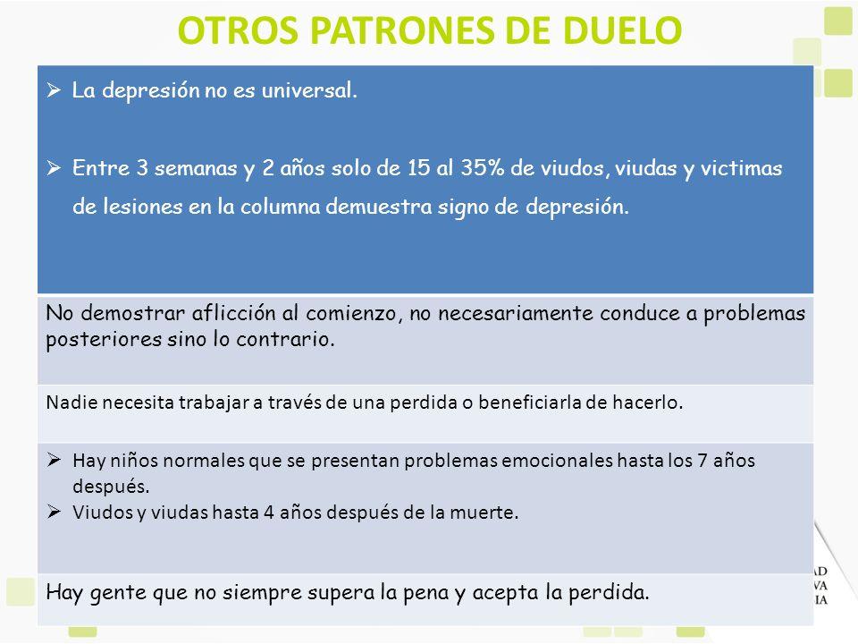 OTROS PATRONES DE DUELO